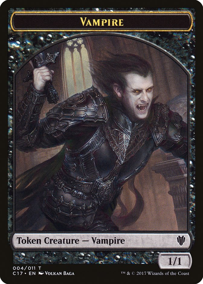 Vampire (004) // Zombie (005) Double-sided Token