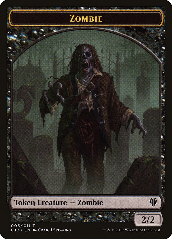 Zombie (005) // Gold (010) Double-sided Token