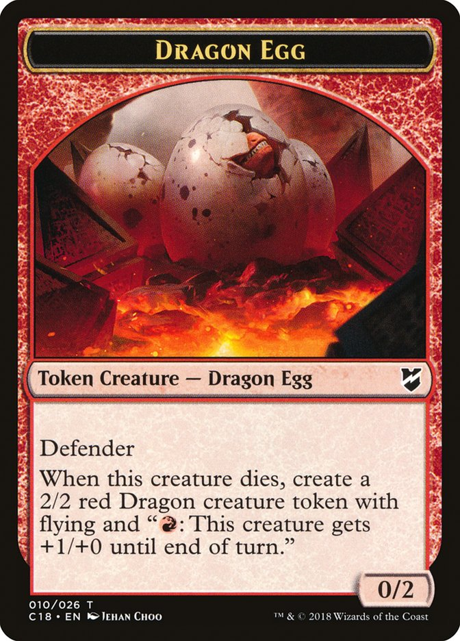 Dragon Egg // Dragon Double-sided Token