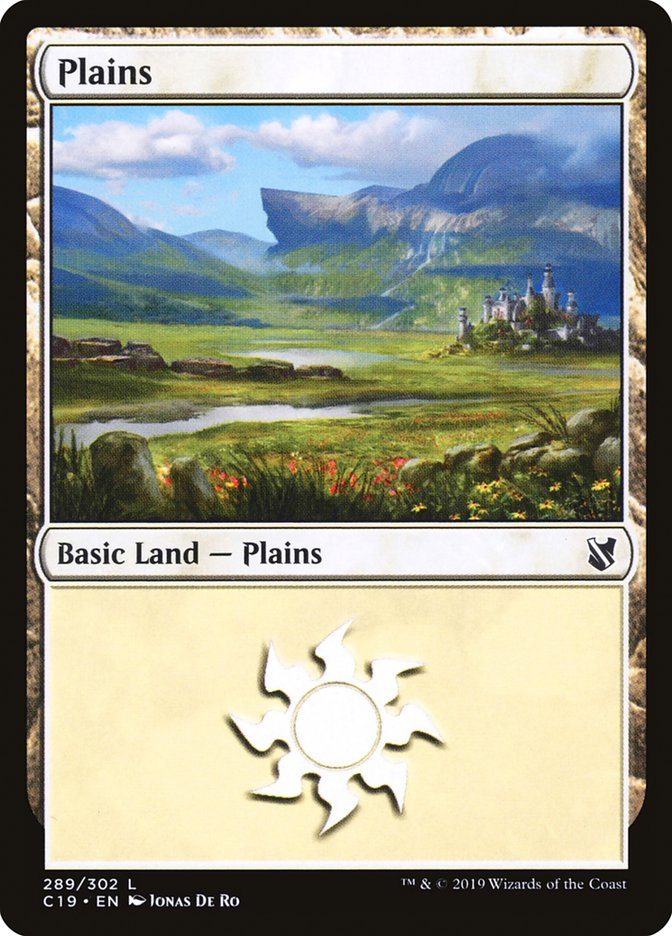 Plains (289) card from Commander 2019
