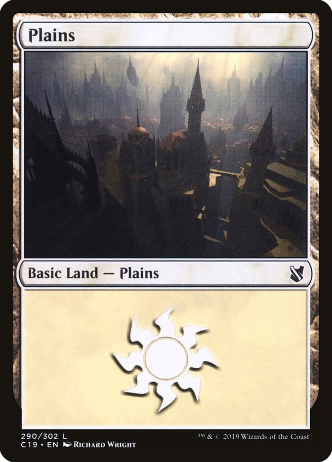 Plains (290) card from Commander 2019