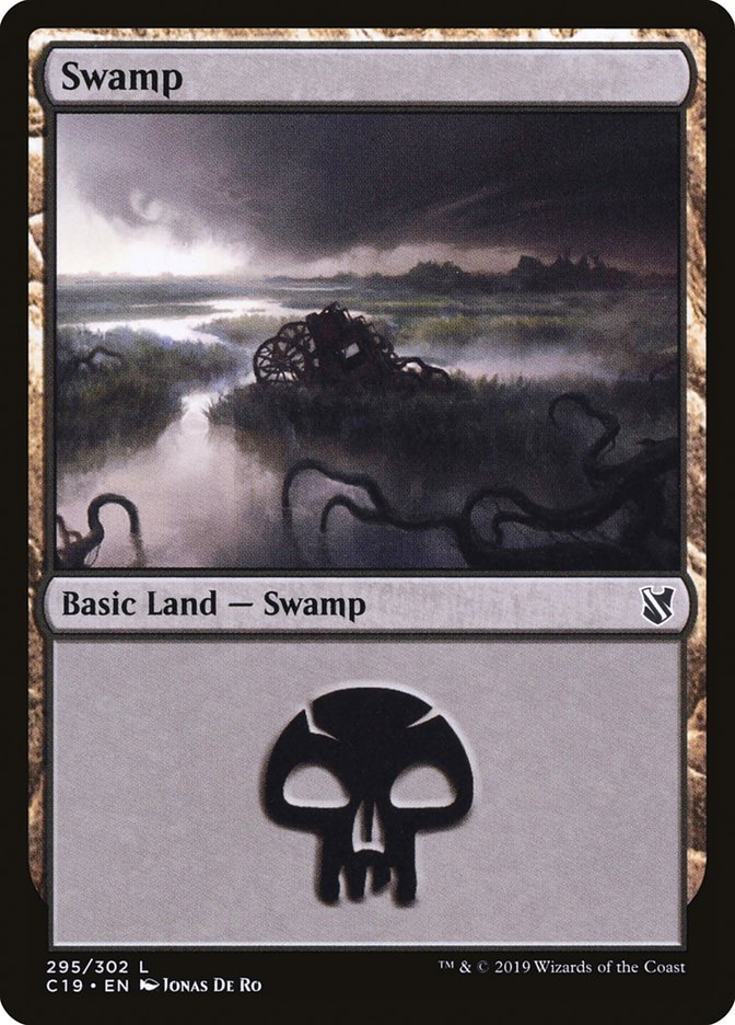 Swamp (295) card from Commander 2019