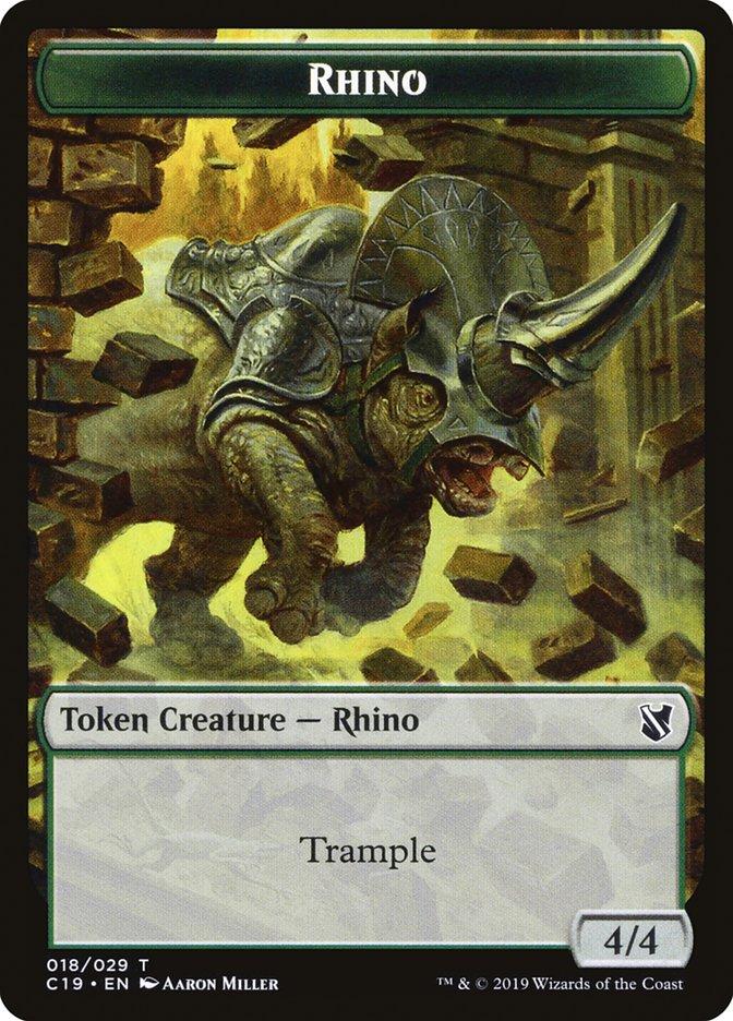 Rhino // Egg Double-sided Token