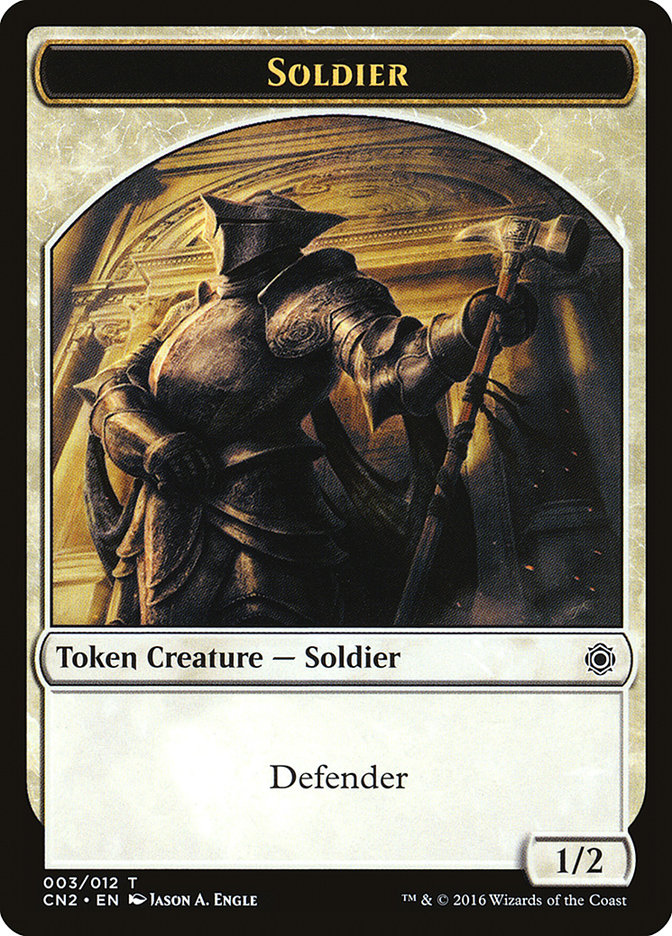 Soldier Token (003) card from Conspiracy: Take the Crown