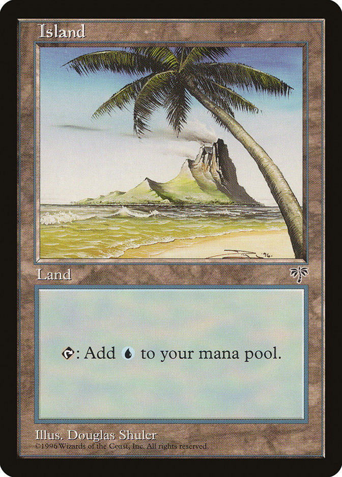 Island (Palm Tree) card from Mirage
