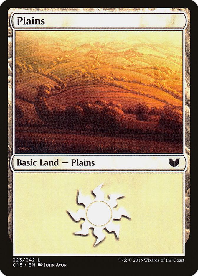 Plains (323) card from Commander 2015