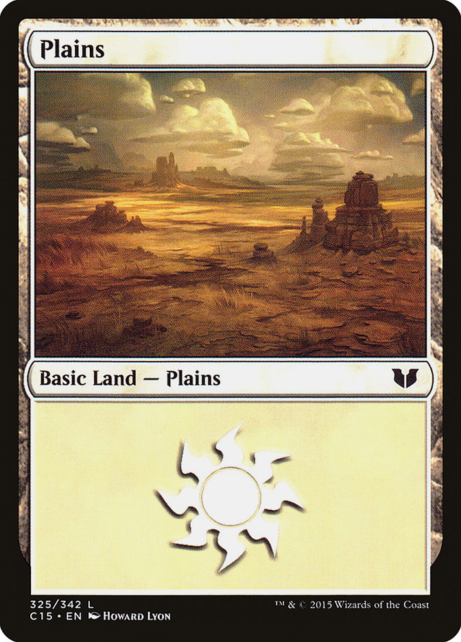 Plains (325) card from Commander 2015