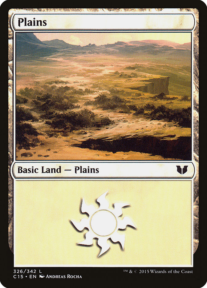Plains (326) card from Commander 2015