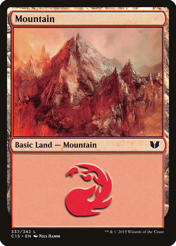 Mountain (337) card from Commander 2015