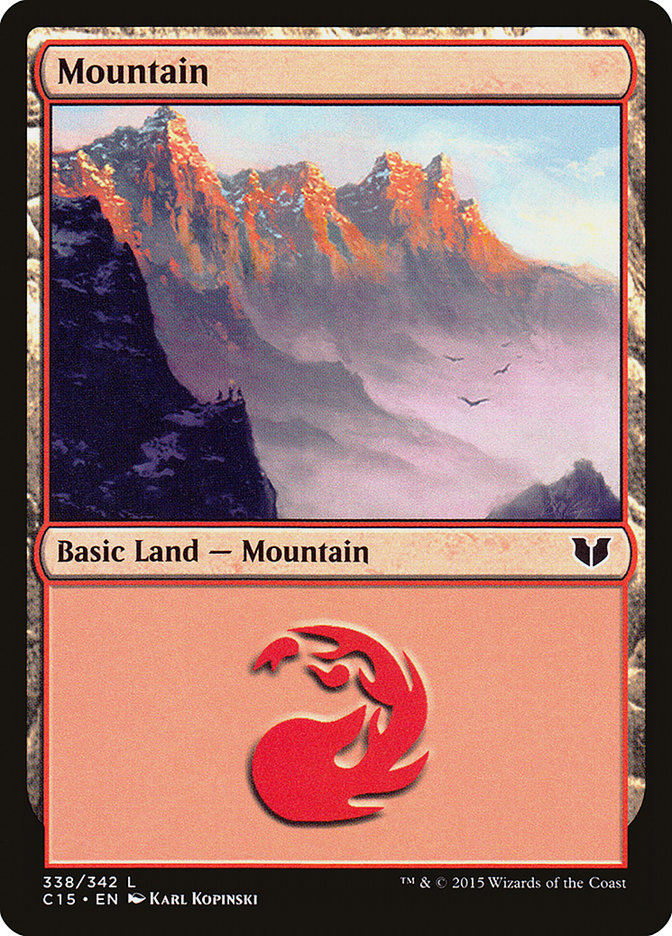 Mountain (338) card from Commander 2015