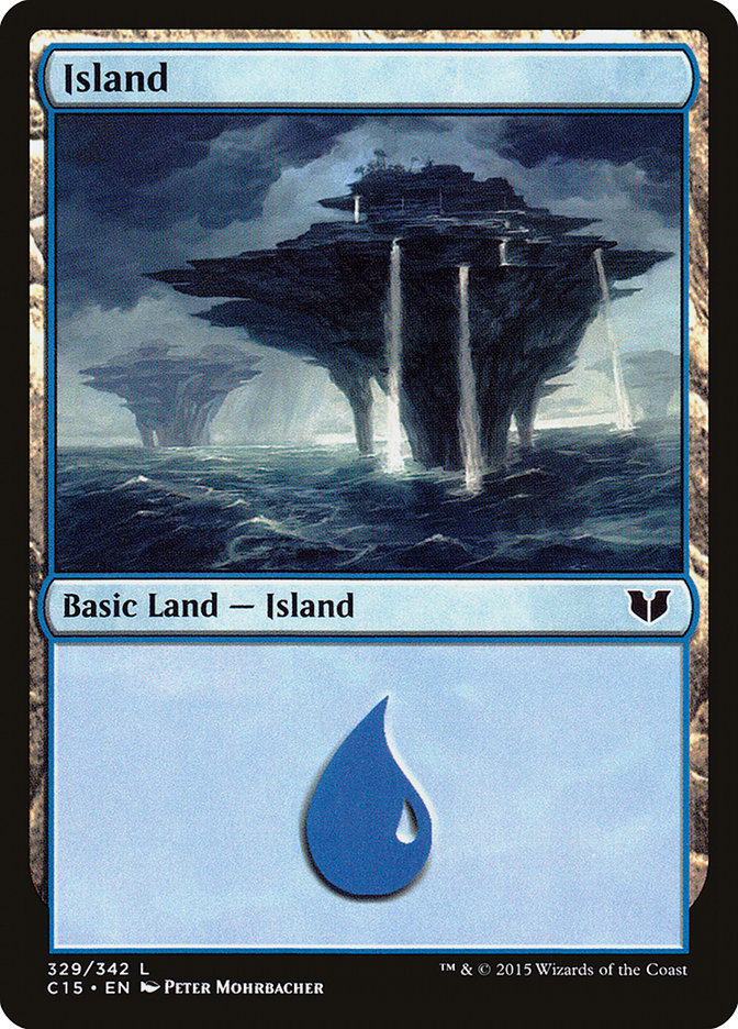 Island (329) card from Commander 2015