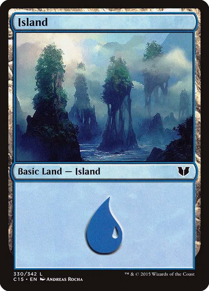 Island (330) card from Commander 2015