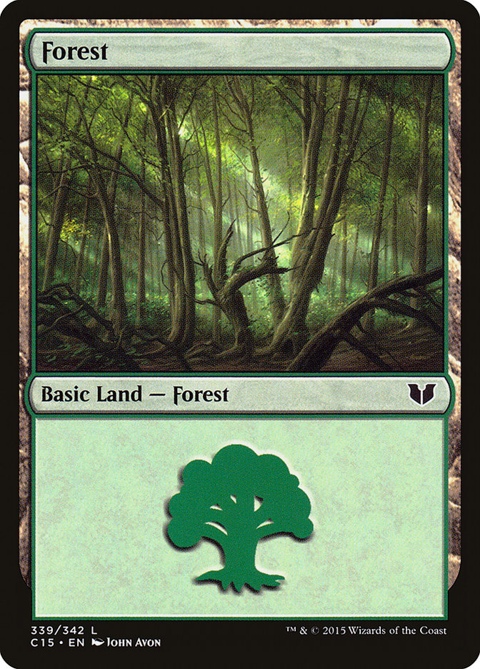 Forest (339) card from Commander 2015