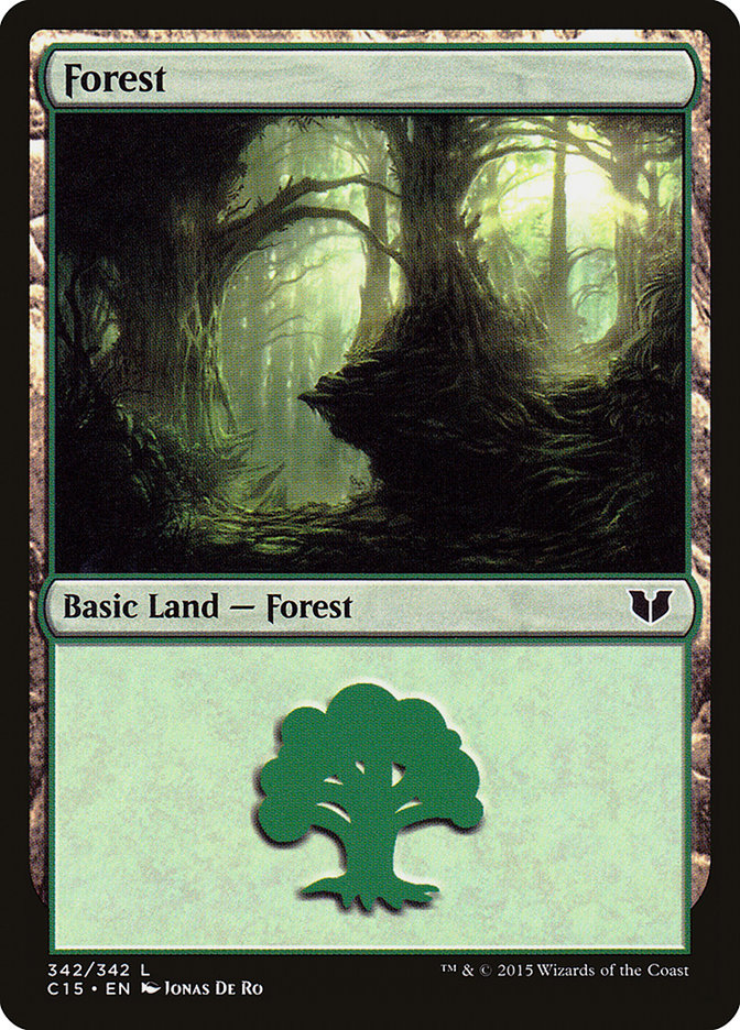 Forest (342) card from Commander 2015
