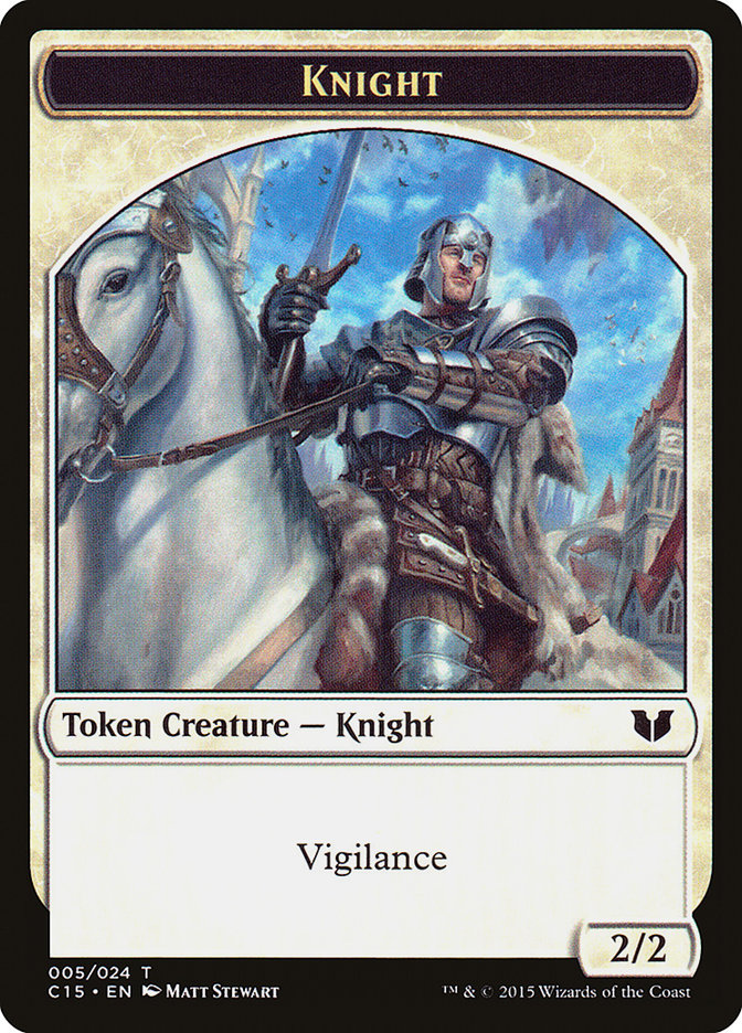 Knight (Vigilance) // Spirit (Enchantment) Double-Sided Token