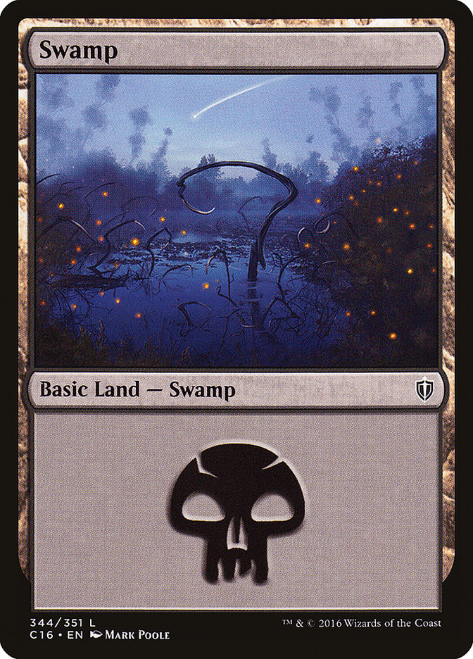 Swamp (344) card from Commander 2016