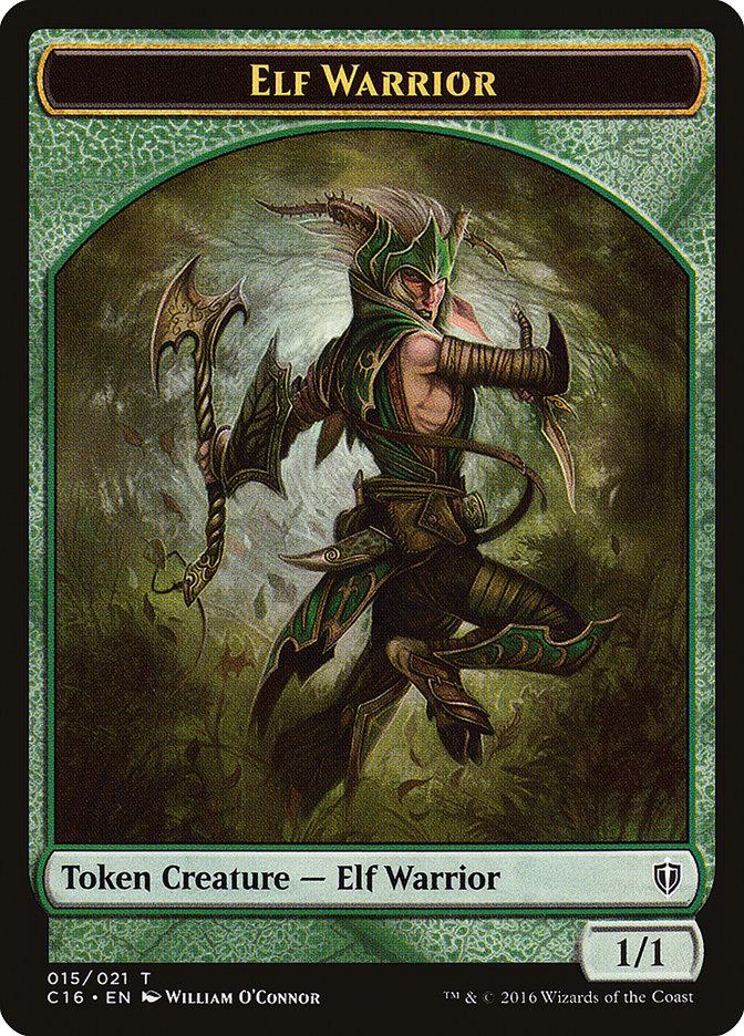 Elf Warrior // Zombie Double-sided Token