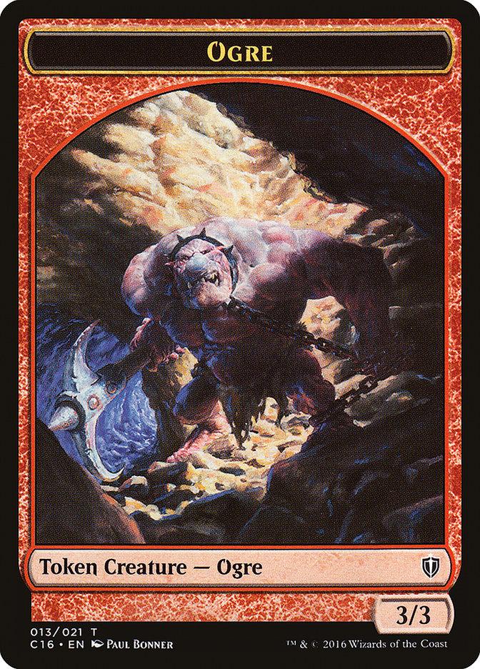 Ogre // Bird (Blue) Double-sided Token