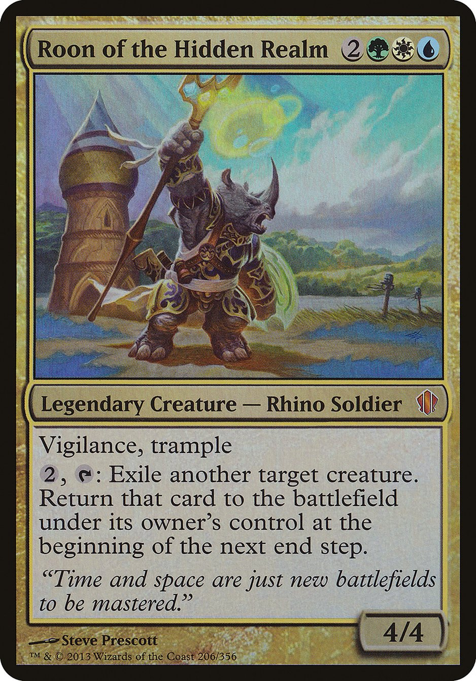 Roon of the Hidden Realm (Commander 2013) card from Oversize Cards