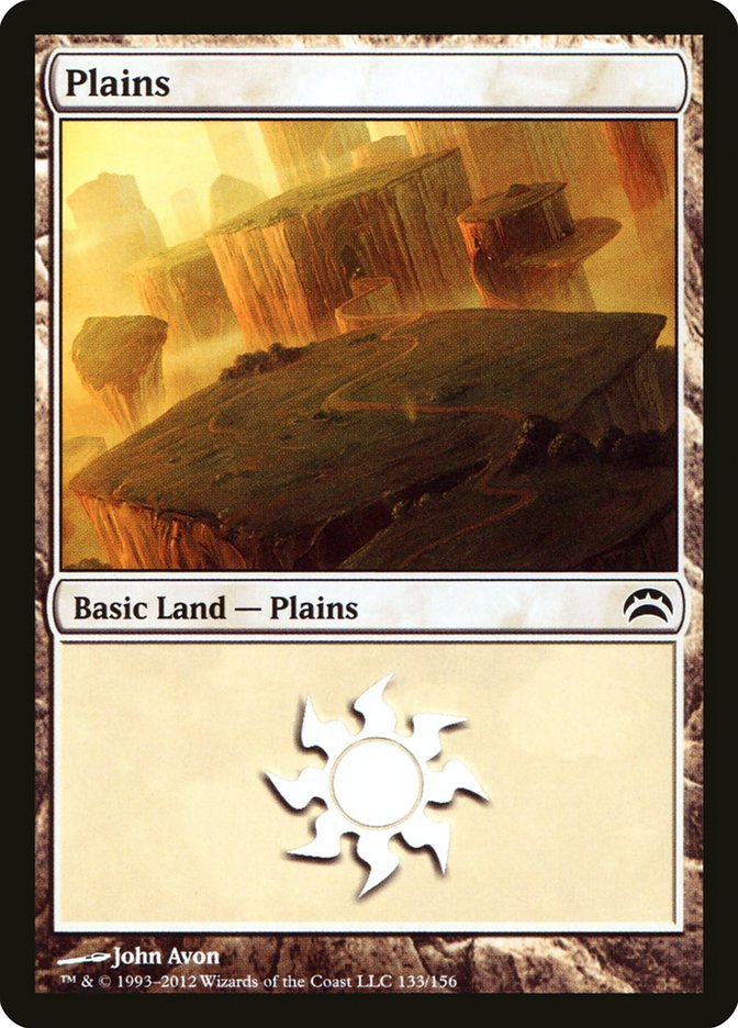 Plains (133) card from Planechase 2012 Edition