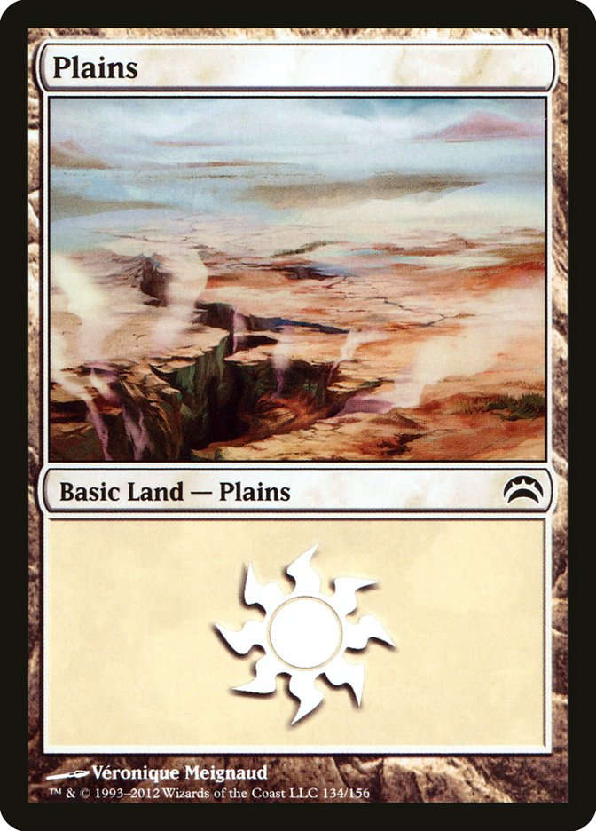 Plains (134) card from Planechase 2012 Edition