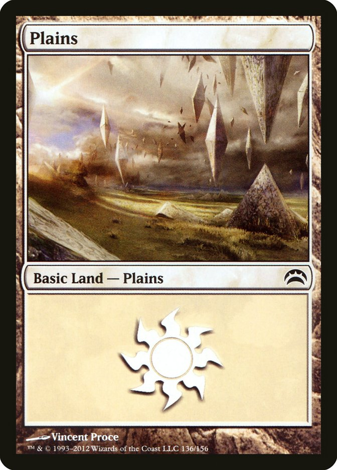 Plains (136) card from Planechase 2012 Edition