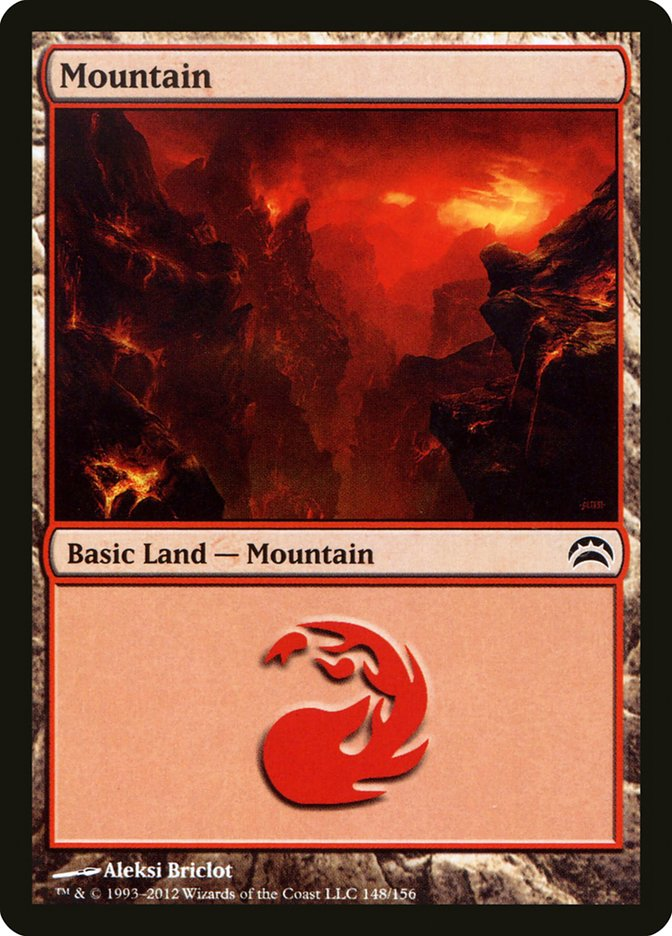 Mountain (148) card from Planechase 2012 Edition