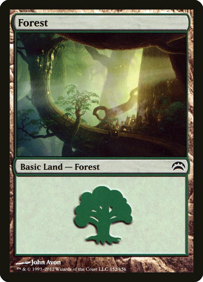 Forest (152) card from Planechase 2012 Edition