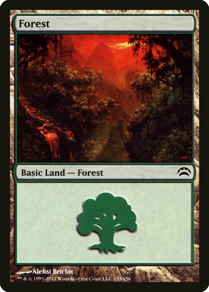 Forest (153) card from Planechase 2012 Edition