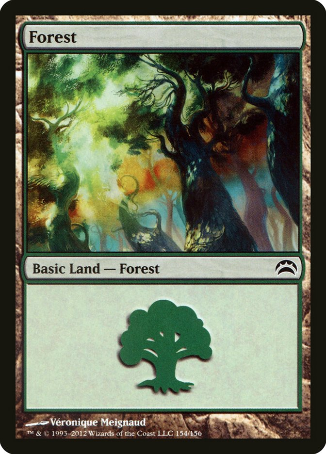 Forest (154) card from Planechase 2012 Edition