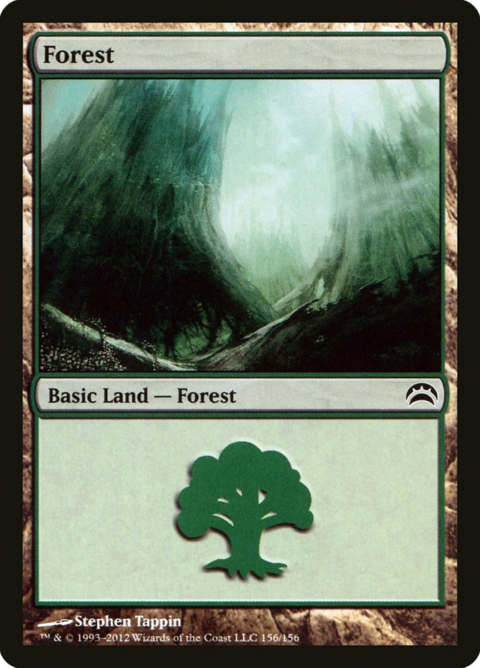 Forest (156) card from Planechase 2012 Edition