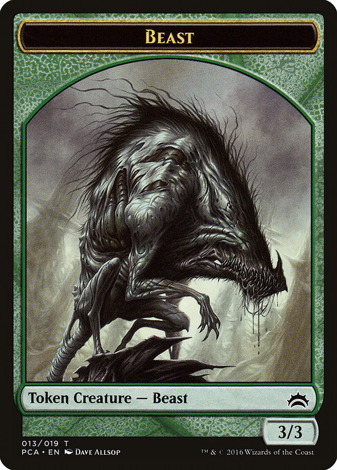 Beast // Saproling Double-sided Token