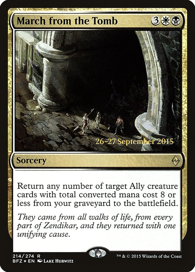 March from the Tomb card from Prerelease Cards