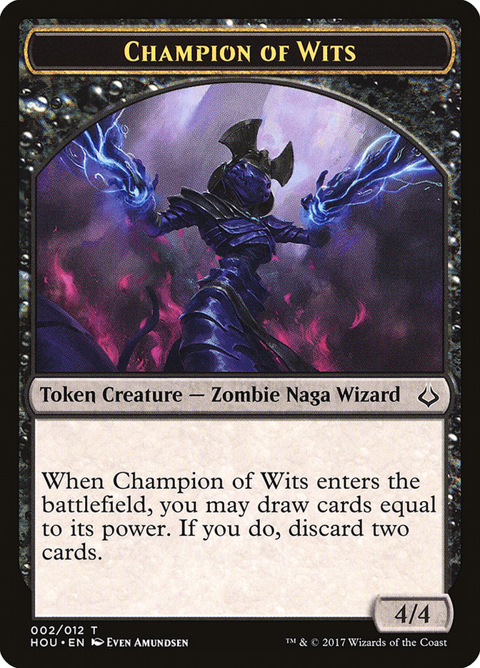 Champion of Wits // Insect Double-sided Token