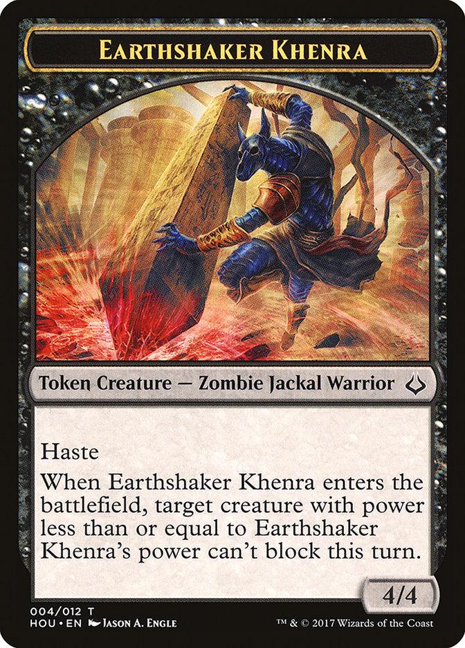 Earthshaker Khenra // Cat Double-sided Token