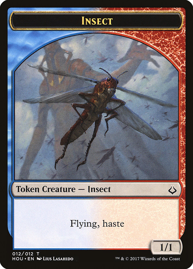 Insect // Zombie Double-sided Token