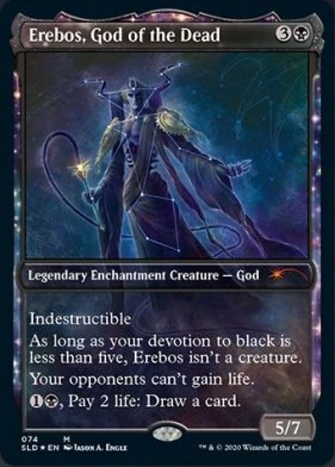 Erebos, God of the Dead card from Secret Lair Drop Series