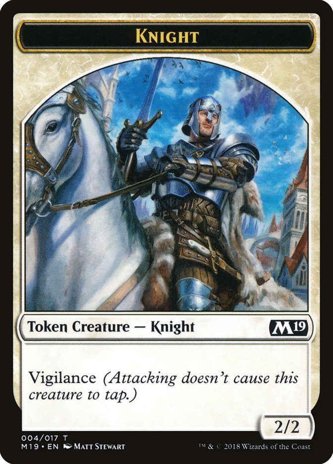 Knight // Thopter Double-sided Token (Game Night)