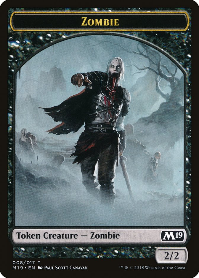 Zombie // Thopter Double-sided Token (Game Night)