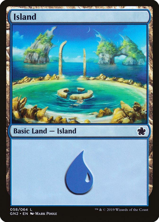 Island (58) card from Magic Game Night 2019