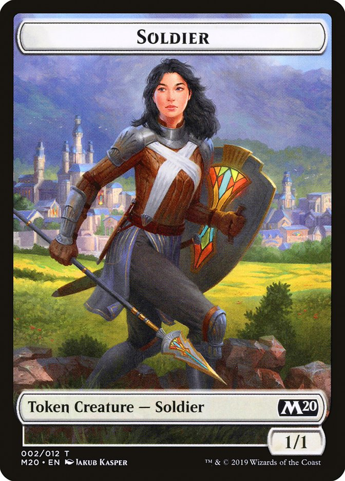 Soldier // Dinosaur Double-sided Token