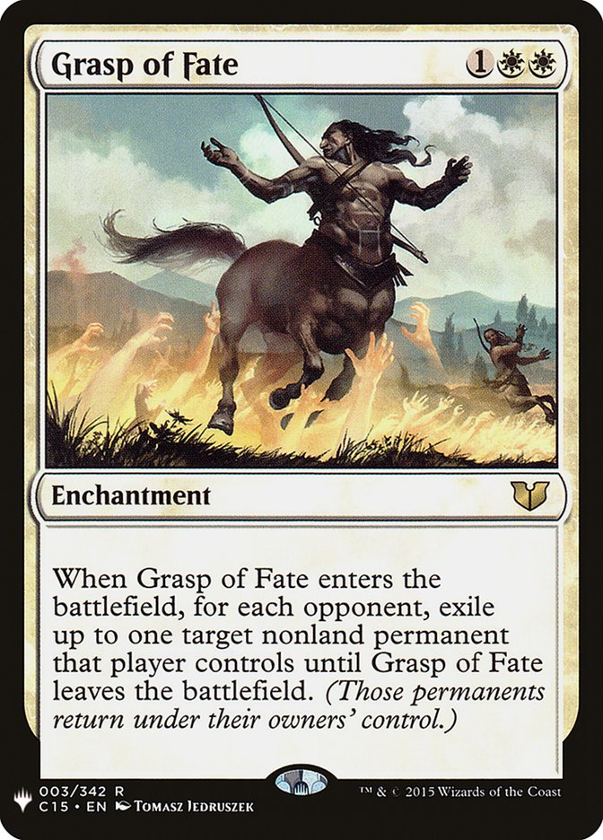 Grasp of Fate card from Mystery Booster
