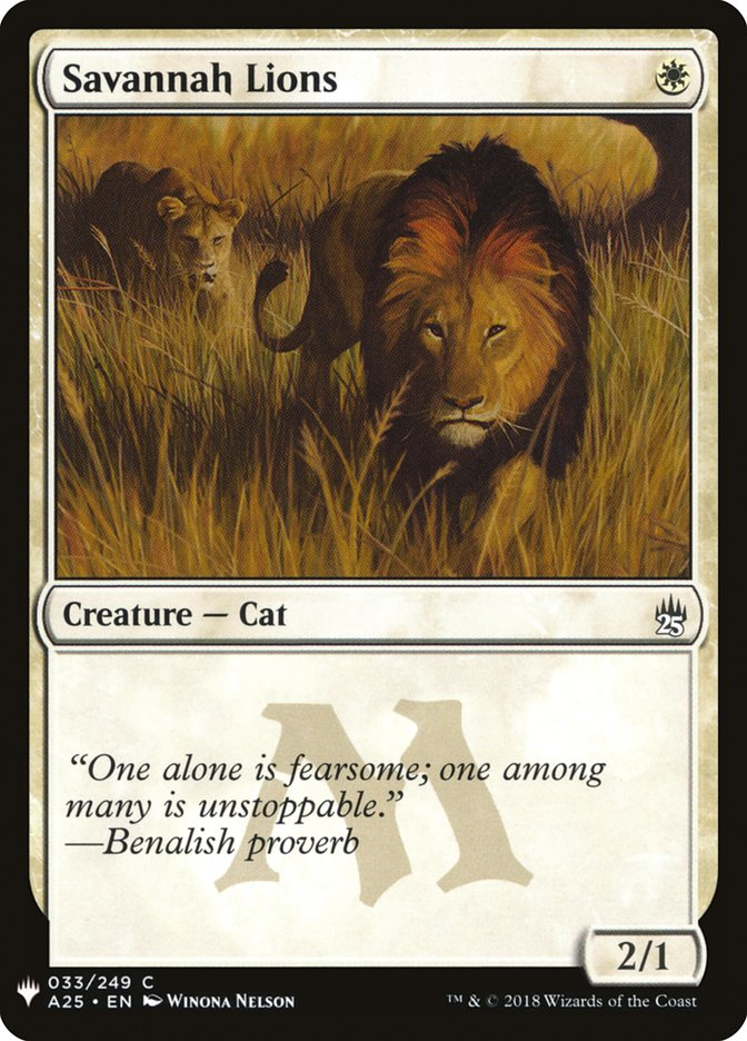 Savannah Lions card from Mystery Booster