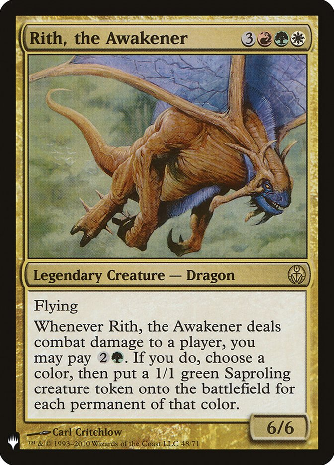 Rith, the Awakener card from Mystery Booster