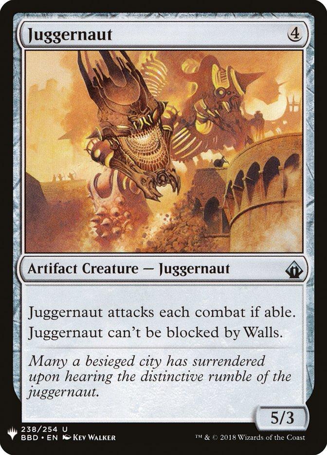 Juggernaut card from Mystery Booster