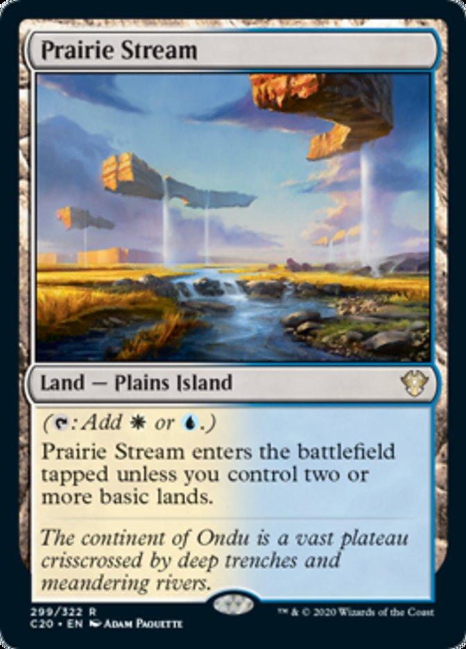 Prairie Stream card from Commander 2020