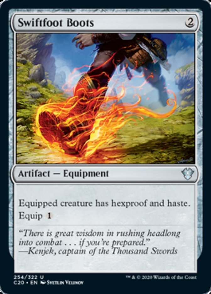 Swiftfoot Boots card from Commander 2020