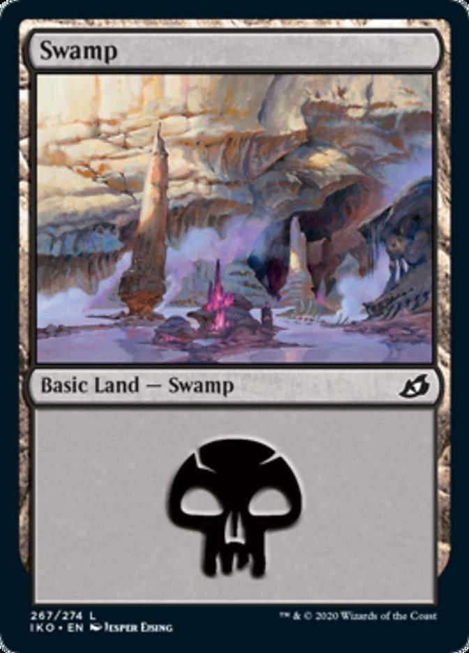 Swamp (267) card from Ikoria: Lair of Behemoths