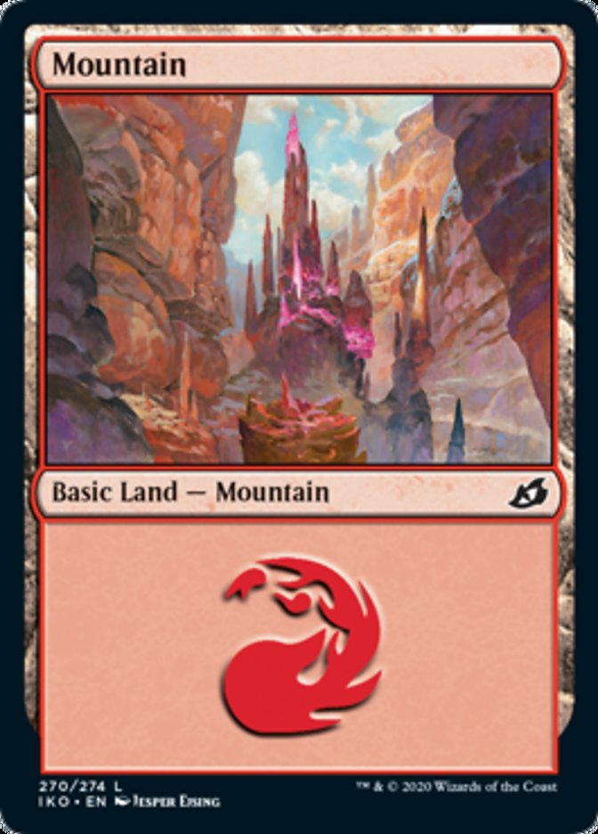 Mountain (270) card from Ikoria: Lair of Behemoths