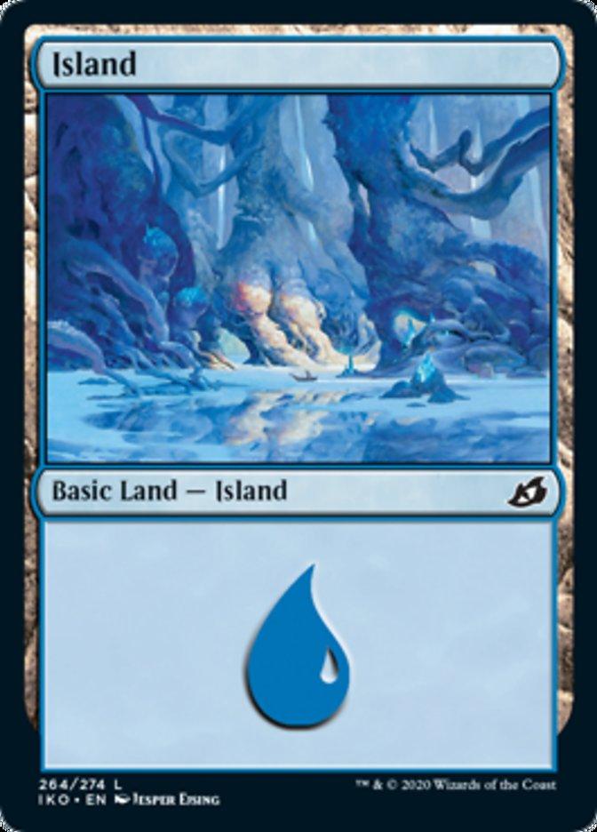 Island (264) card from Ikoria: Lair of Behemoths
